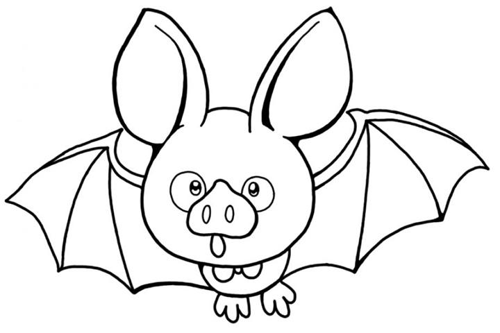 Funny Bat Coloring Pages