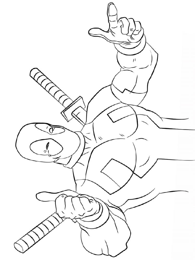 Funny Deadpool Coloring Pages
