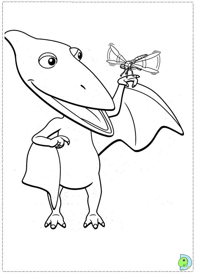 Funny Dinosaur Train Coloring Pages