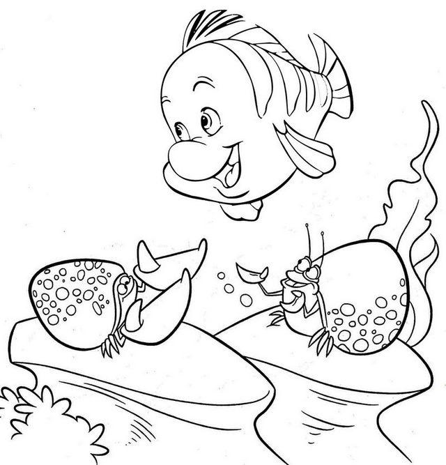 Funny Flounder Coloring Page