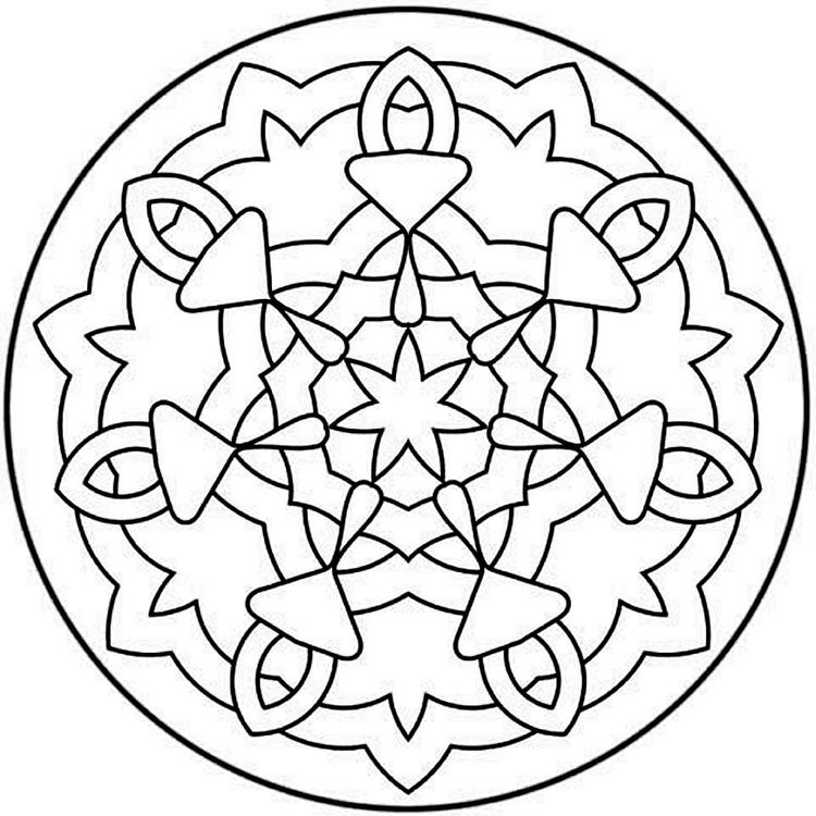 Funny Free Mandala Coloring Pages