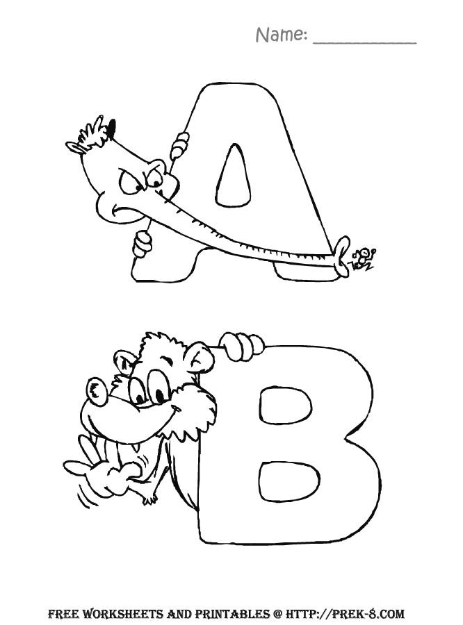 Funny Free Printable Abc Coloring Pages