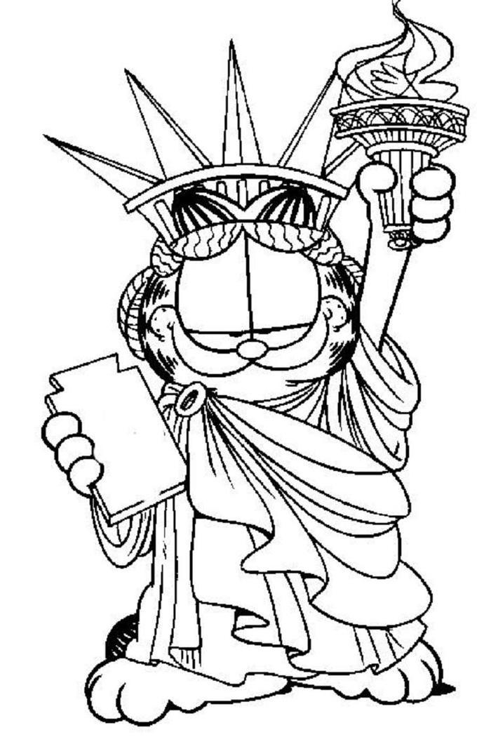 Funny Garfield Coloring Pages