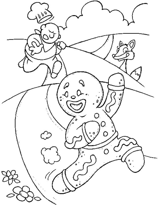 Funny Gingerbread Man Coloring Pages