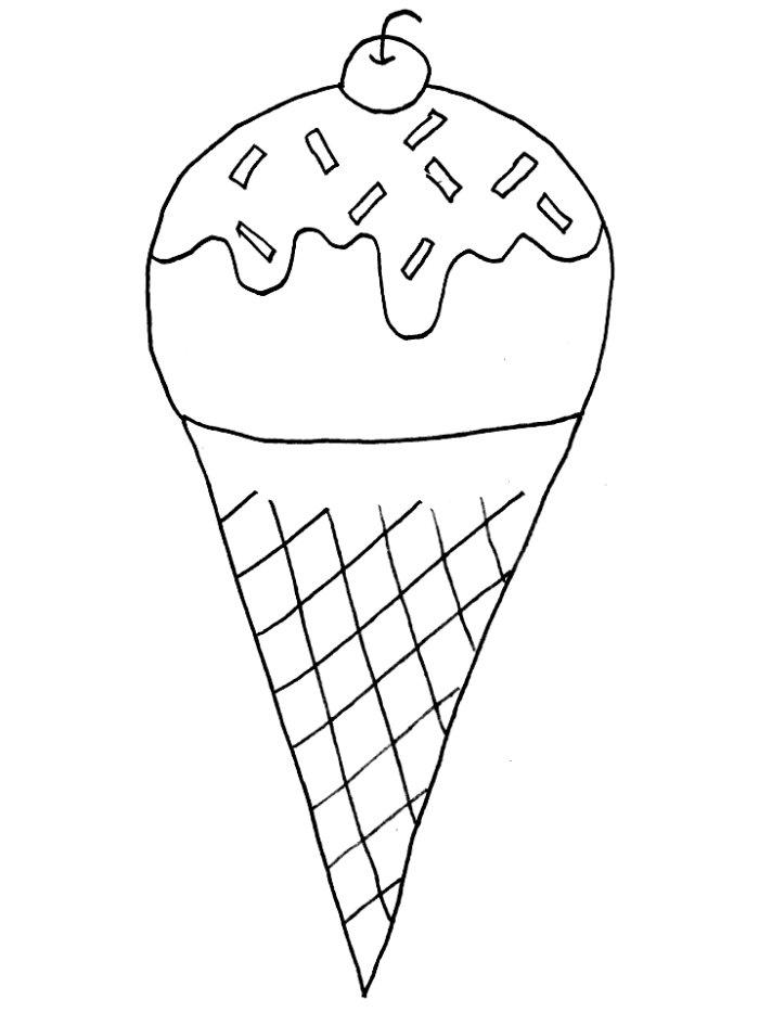 Funny ice cream sundae coloring pages