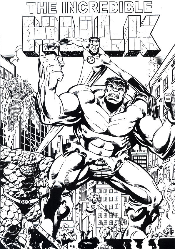 Funny Marvel Coloring Pages Hulk