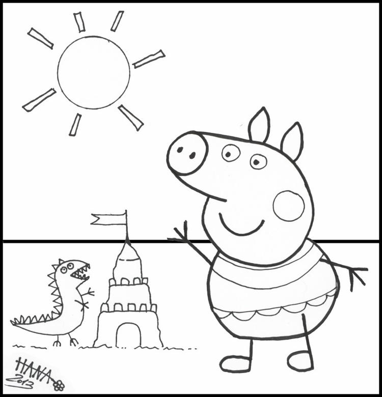 Funny Peppa Pig Coloring Pages