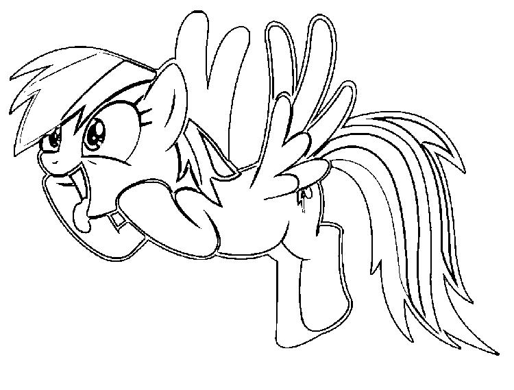 Funny Rainbow Dash Coloring Pages