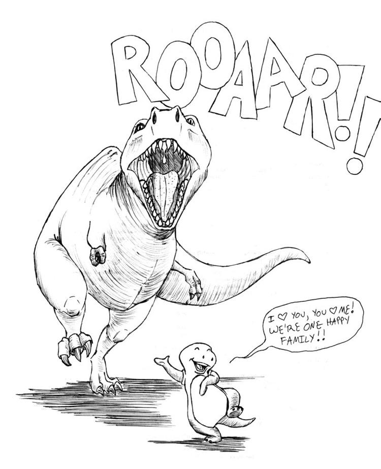 Funny Realistic Dinosaurs Coloring Pages