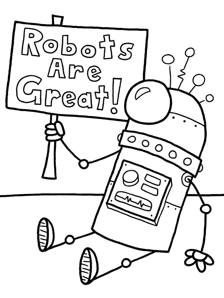 Funny Robot Coloring Pages