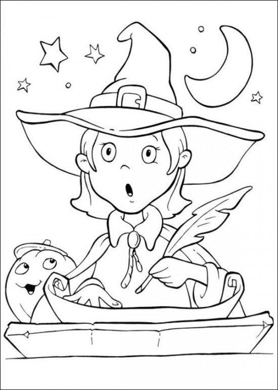 Funschool Halloween Coloring Pages Printable Kids