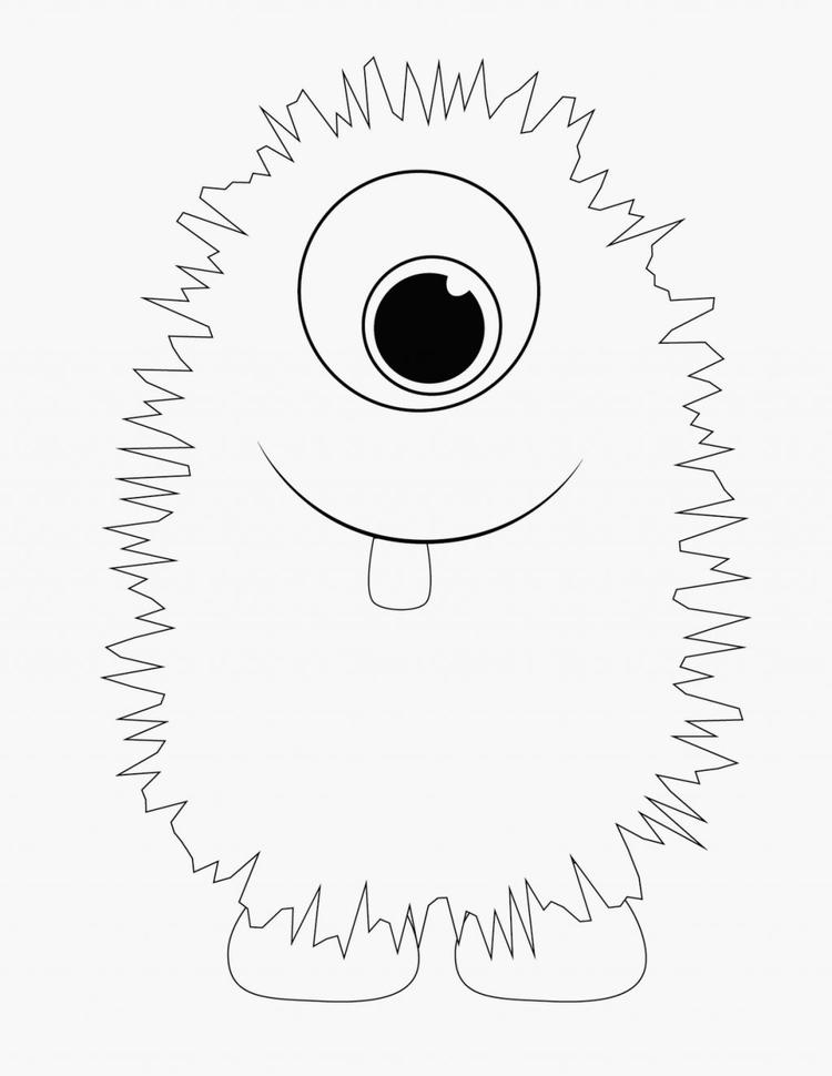 Furry Monster Coloring Pages