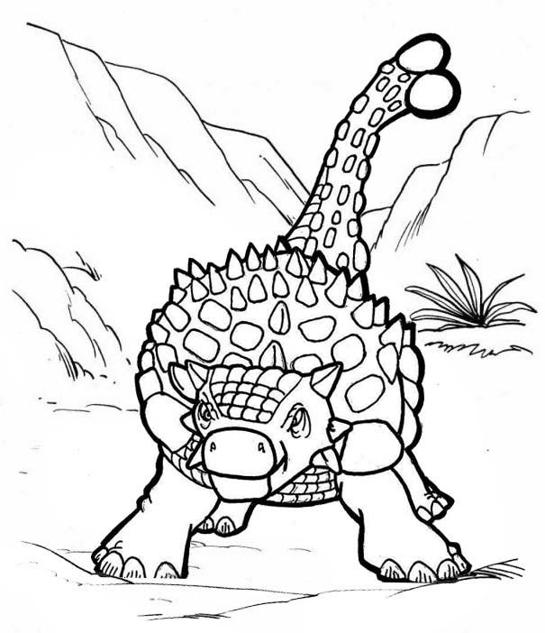 Fused Lizard Ankylosaurus Coloring Page