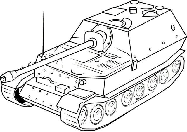 Future American Battle Tank Drawing Coloring Page
