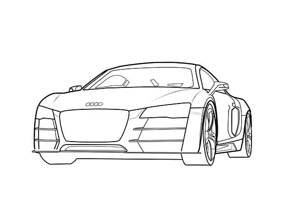 Future Design Audi Cars Coloring Pages