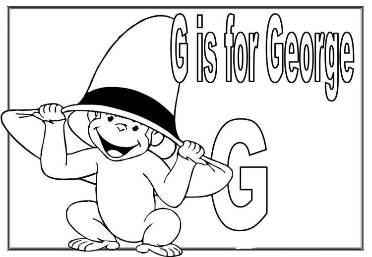G Is For George Cartoon Coloring Pages Alphabet