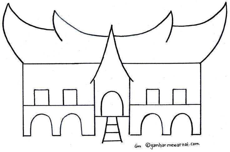 Gadang Traditional House Coloring Pages