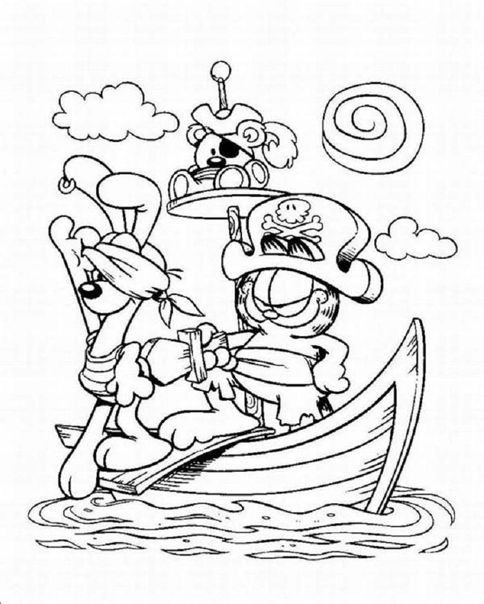 Garfield Pirates Coloring Pages