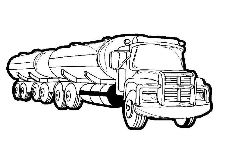 Gas Truck Preschool Coloring Pages Trucks