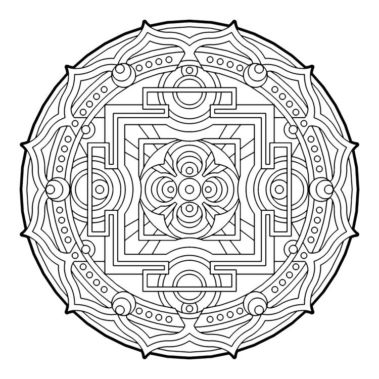Geometric Circle Coloring Pages For Adults