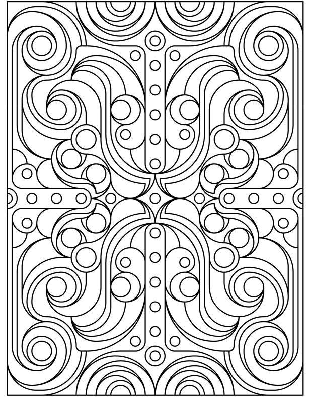 Geometric Coloring Pages Free To Print
