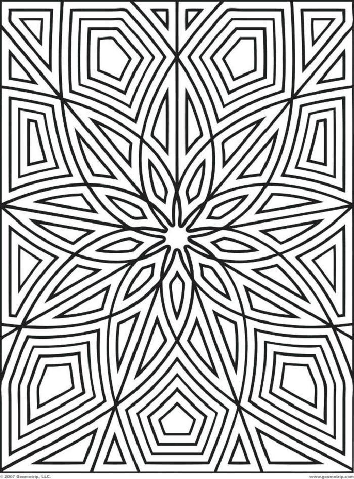Geometric Coloring Pages To Print