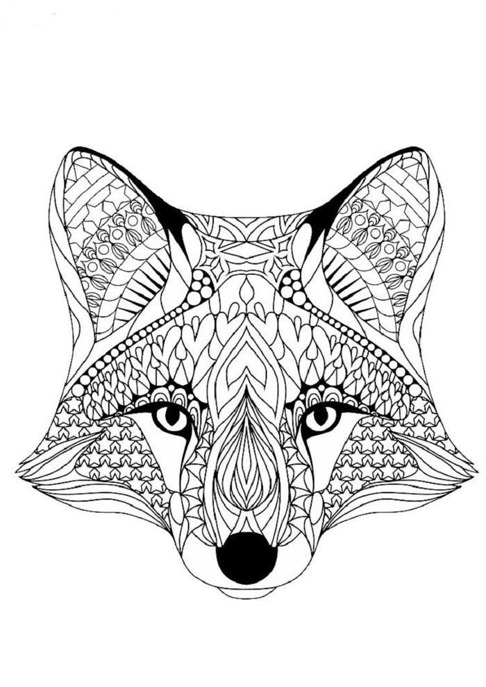 Geometric Dog Coloring Pages 1