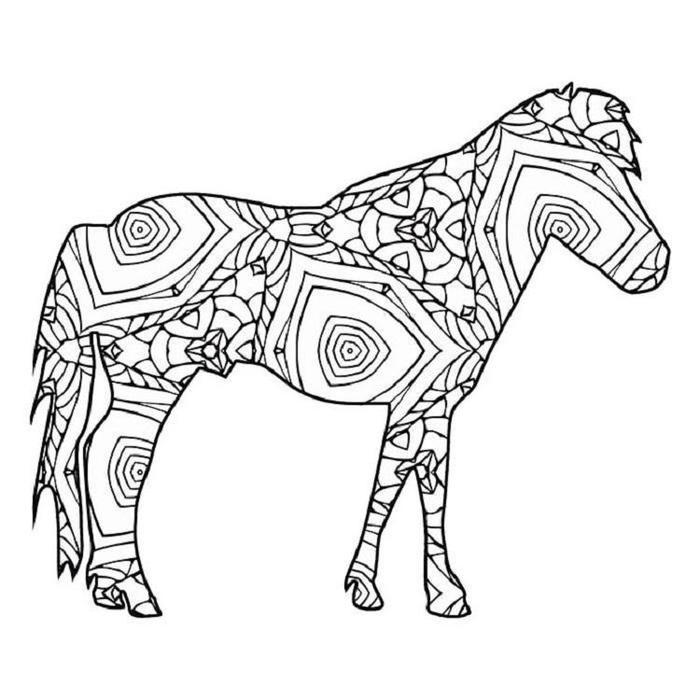 Geometric Horses Coloring Pages