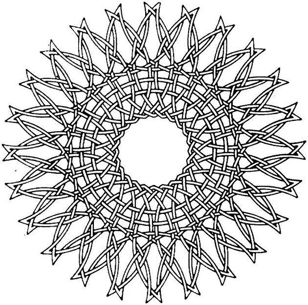 Geometric Pattern Coloring Pages For Adults Print Out