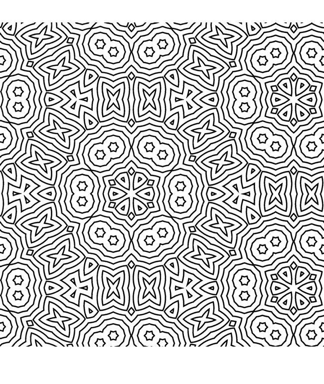 Geometric Pattern Coloring Pages For Adults Printable