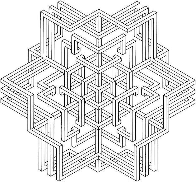 Geometric Shapes Coloring Pages 1