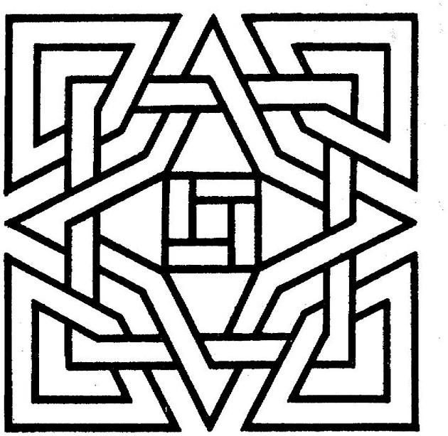 Geometric Square Coloring Pages For Kids