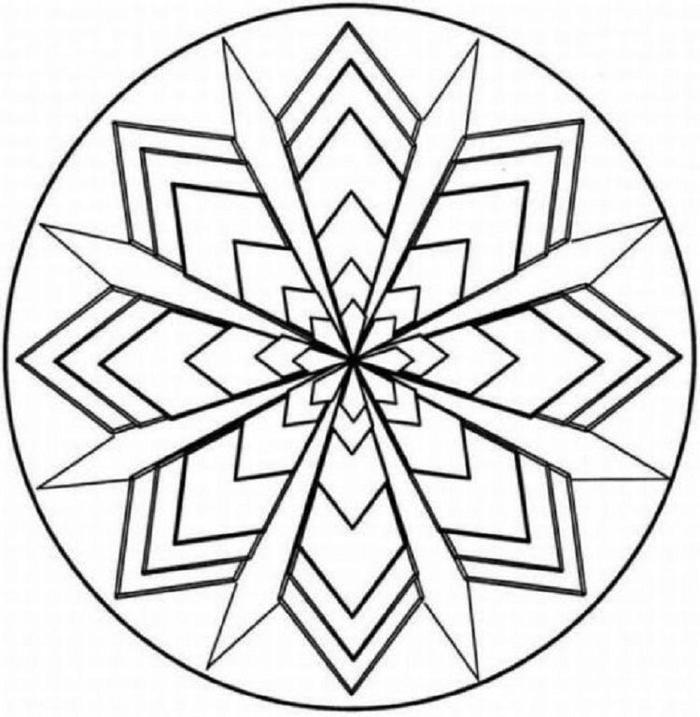 Geometric Symmetry Coloring Pages