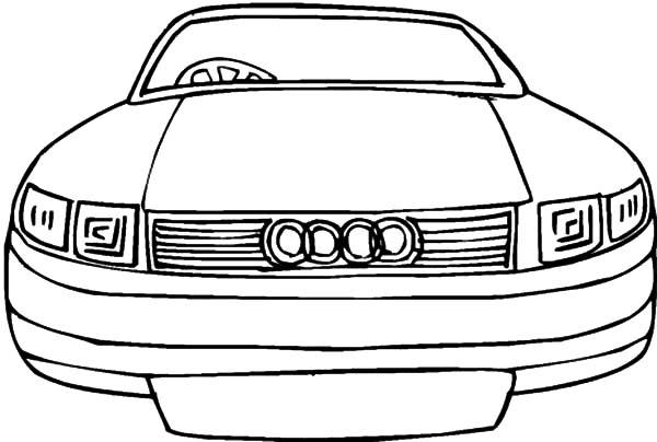 German Audi Cars Coloring Pages
