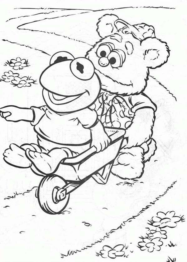 Get On Pushcart Muppet Babies Coloring Pages
