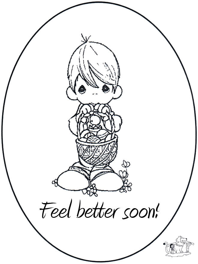 Get Well Soon Coloring Pages Feel Better