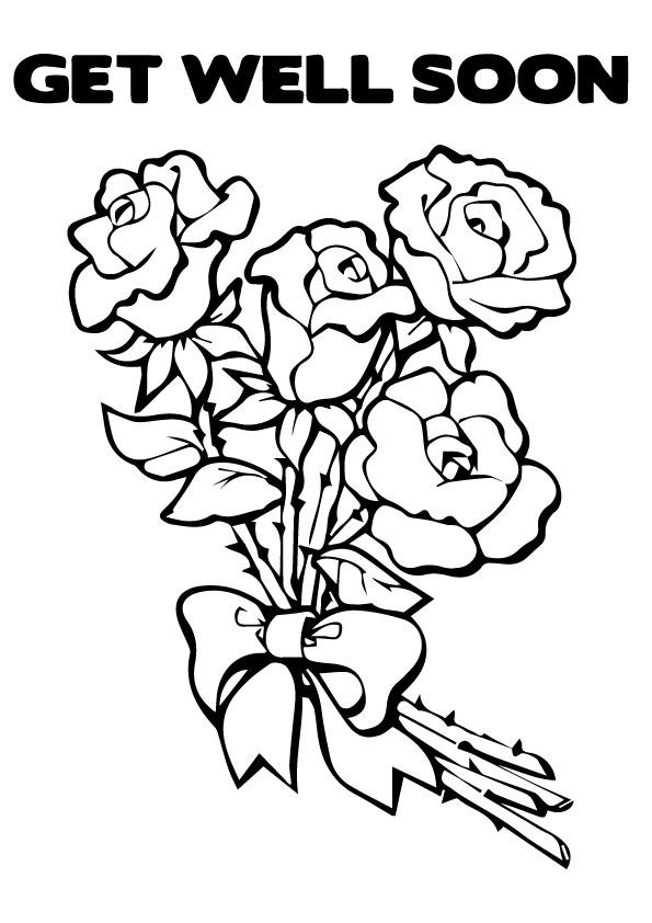 Get Well Soon Coloring Pages Flowers