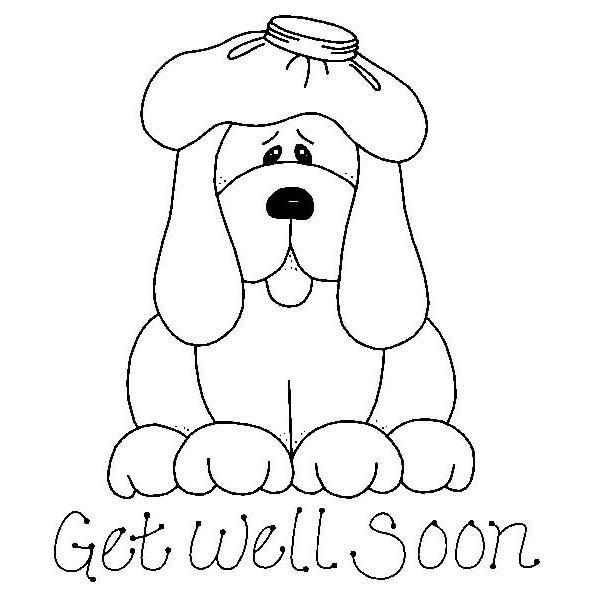 Get Well Soon Coloring Pages Puppy