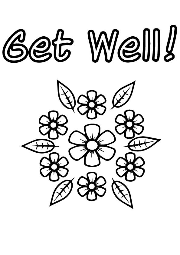 Get Well Soon Coloring Pages With Flowers