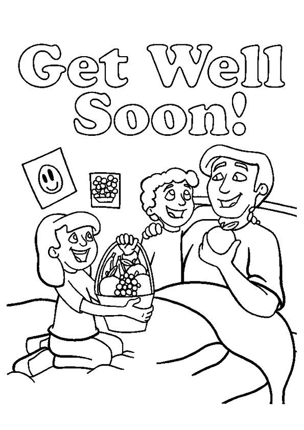 Get Well Soon Daddy Coloring Pages