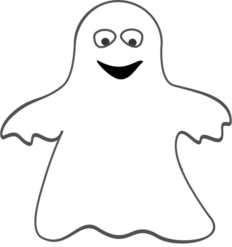 Ghost Coloring Pages For Preschooler