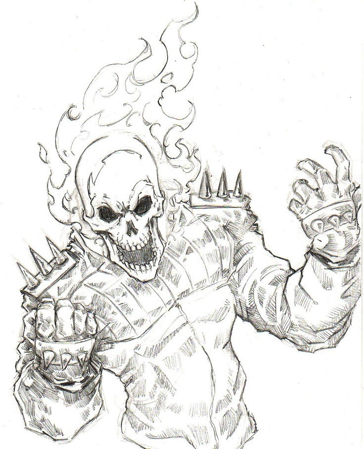 Ghost Coloring Pages Ghost Rider