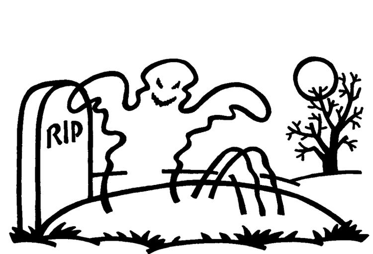 Ghost Coloring Pages Rise From The Grave