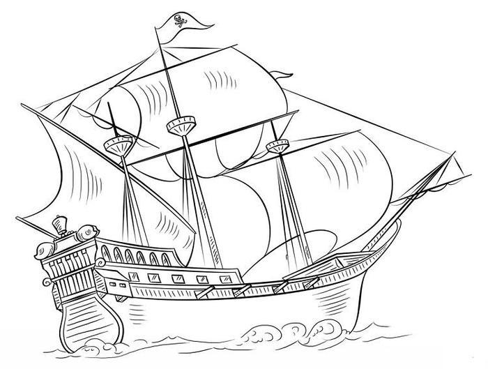 Ghost Ship Coloring Pages