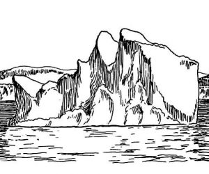 Giant iceberg coloring pages