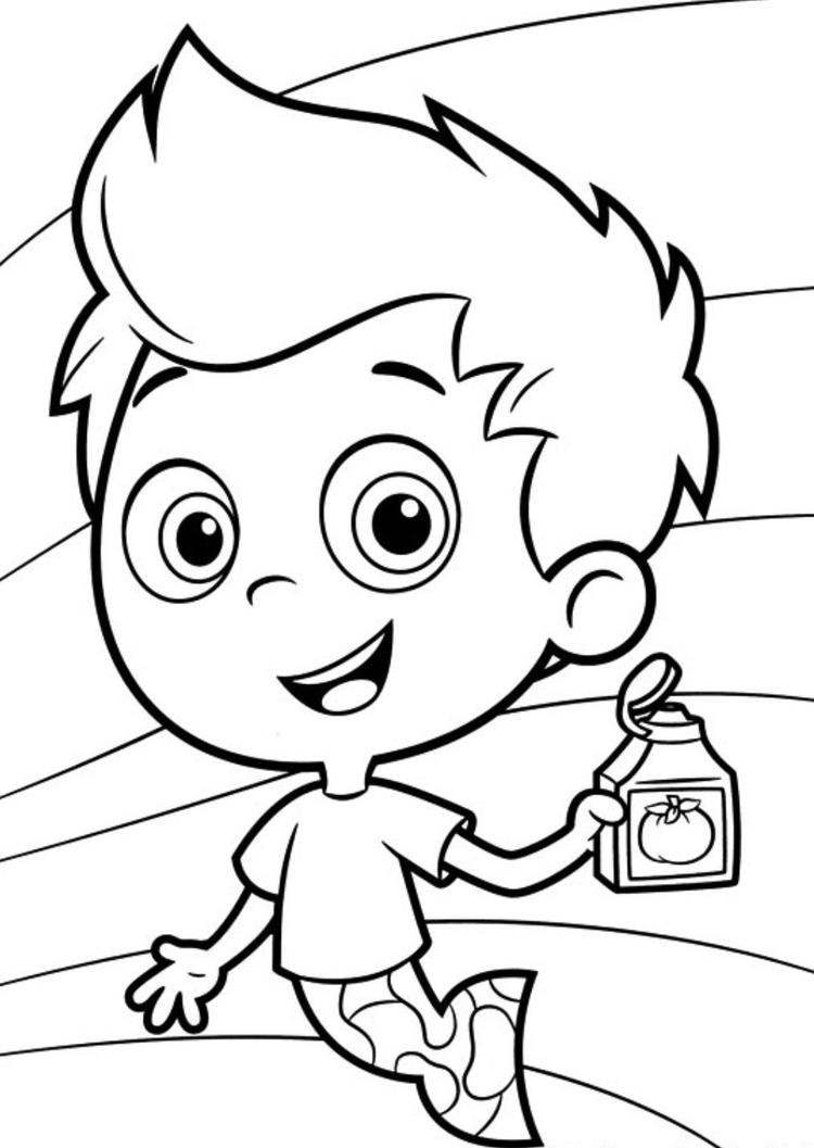 Gil Bubble Guppies Coloring Pages