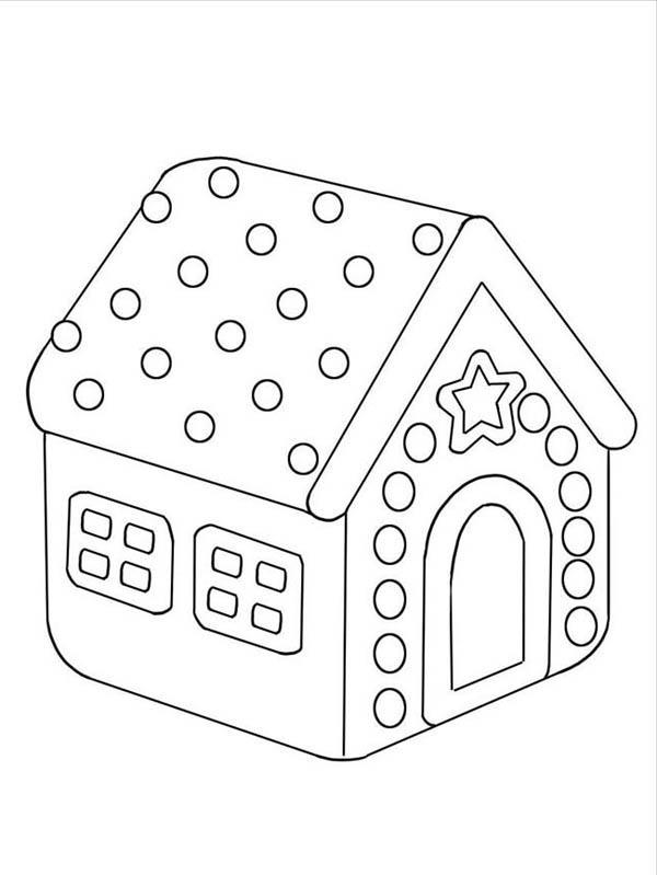 Gingerbread House Coloring Pages For Preschool