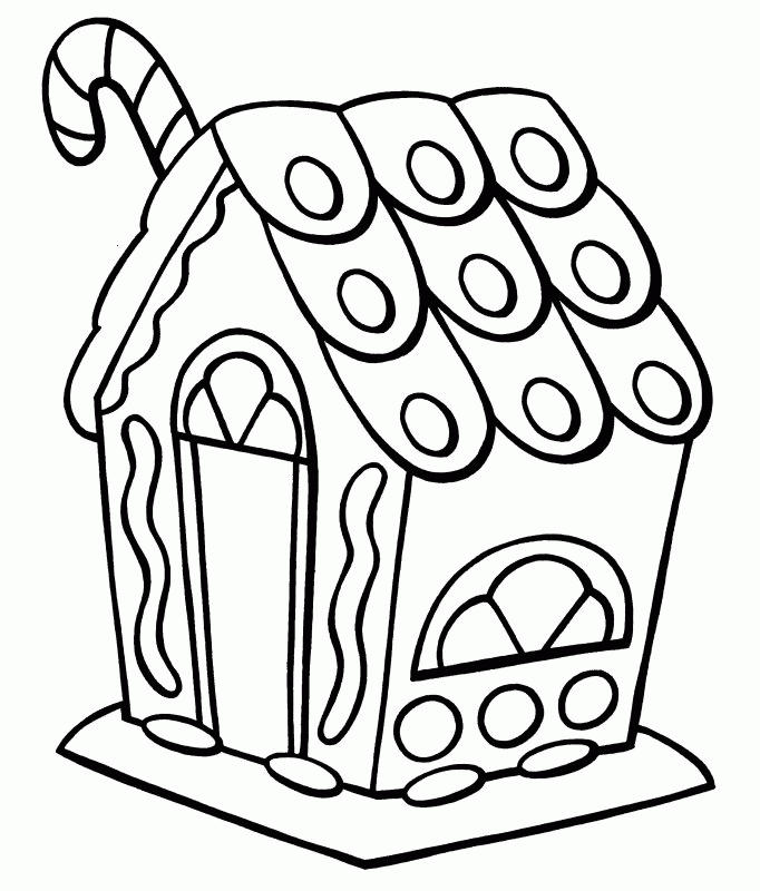 Gingerbread House Coloring Pages For Preschooler