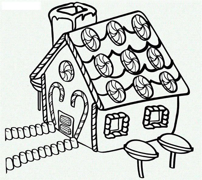 Gingerbread House Coloring Pictures