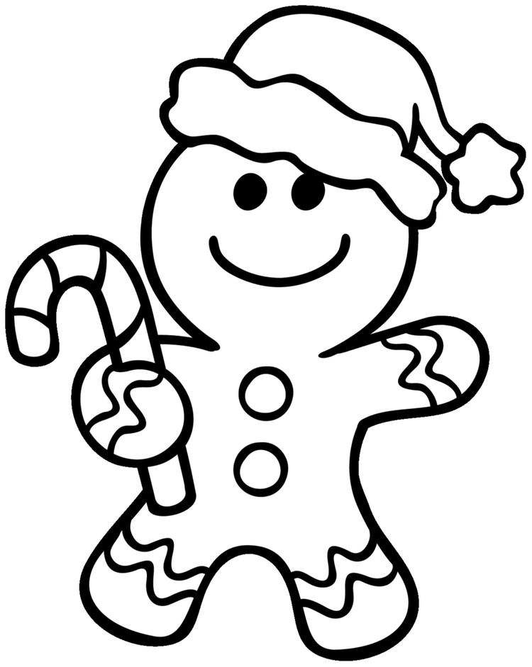 Gingerbread Man Coloring Pages Christmas